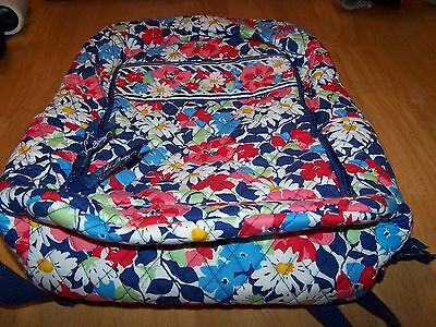 Vera Bradley Summer Cottage Laptop Backpack Preowned Euc L@@k