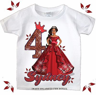 Princess Elena of Avalor  Personalized Birthday Shirt - Name & Age Custom tee