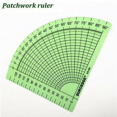 Tailor Sewing Tools Quilting Patchwork Scrapbook Circle Fan Foot Seam Ruler #GH