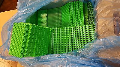Genuine LEGO Base Plate 8x16 MiniFigure - LOT of 200 - BRIGHT GREEN Thin - NEW