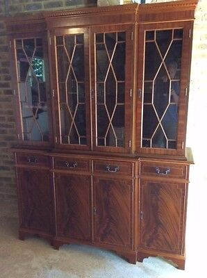 Large antique display cabinet (reproduction) - cherry wood