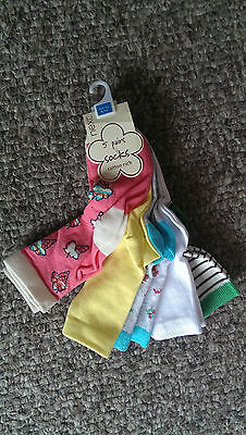 Next 5 Pairs of Gorgeous Socks Ice-cream, Floral, Striped NEW shoe size 9-12