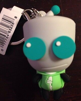 INVADER ZIM 3D Figural Keyring GIR DOG SUIT DISGUISE A KEYCHAIN
