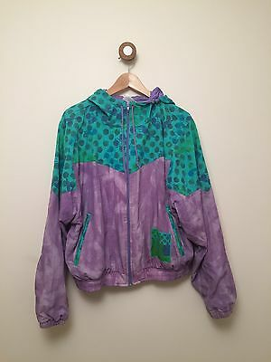 Vintage ADIDAS Patterned shell Suit Top With Hood