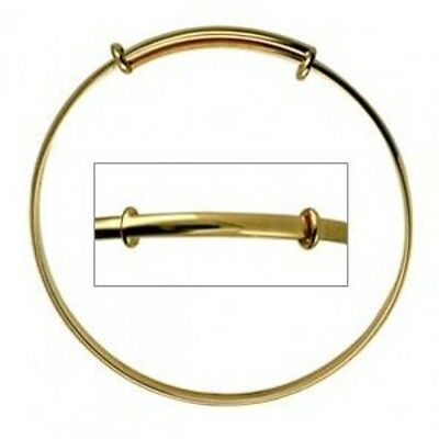 Baby/toddler Plain Expandable Baby Bangle 40-48 Mm Avail In S/silver Or 9Ct Gold