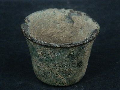 Ancient Bronze Pot Roman 200 BC     #S4334
