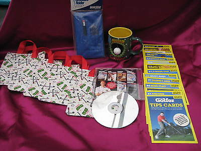23 Golf Items Christmas Stocking Fillers -Dvd-Tip Cards-Goodie Bags-Used & New