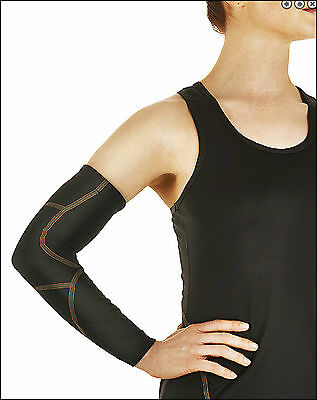 Tommie Copper Performance Compression Full Arm Sleeve- LARGE- WOMEN-PINK
