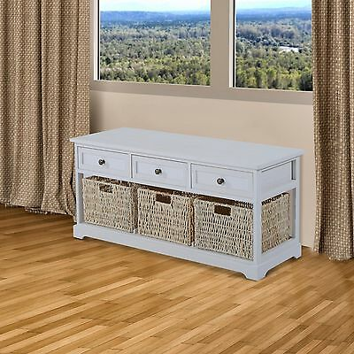 Wooden Storage Table Bench Hallway Furniture Bedroom Seater Baskets Drawers Seat