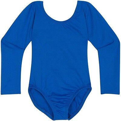 ROYAL BLUE Toddler & Girls Classic Long Sleeve Dance Leotard