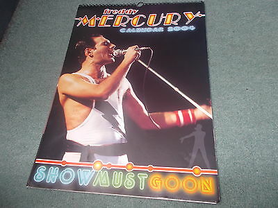 2004 Freddy Mercury QUEEN Calendar Music Rock Band Memorabilia SHOW MUST GO ON