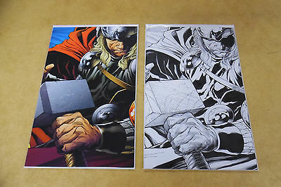 SIEGE #3 Thor Cover Set COLOR 1:200 & SKETCH 1:300 ~ QUESADA VARIANTS VF/NM