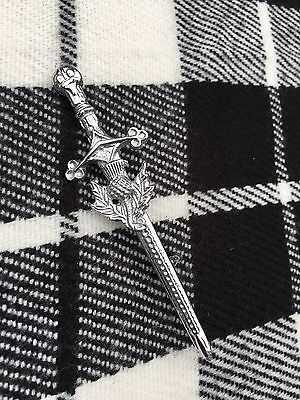 New Scottish Thistle Kilt Pin Chrome Finish/Highland Thistle Kilt Pin/kilt Pins
