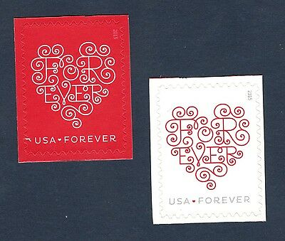 4955-6 Forever Hearts Set Of 2 Mint/nh FREE SHIPPING  (A-134)
