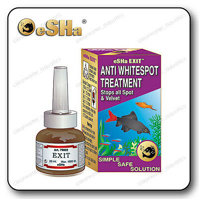 ESHA EXIT Whitespot & Velvet FISH TANK Aquarium TREATMENT Scratching ICH Spot