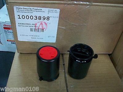 Security Bottle Caps Size Small Sm-Rf Red - Qty.50
