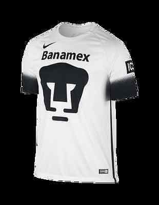 Nike Official Pumas Unam Mexico Football White Shirt Short Sleeved Xl Bnwt