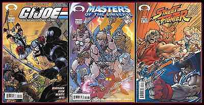 GI Joe 21 Masters Of The Universe 1 Street Fighter 2 Campbell Variant Set Image