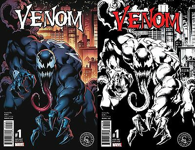 Venom 1 Vol 3 Mark Bagley Retailer Incentive Variant Nm Exclusive Color B&w Set