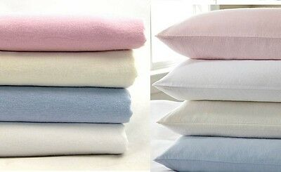 Best Thermal Flannelette 100% Brushed Cotton Flat or Fitted Sheet