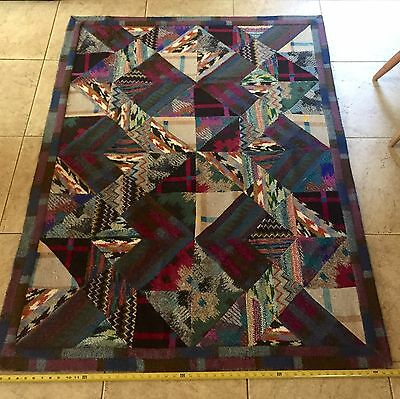 MISSONI Sirio Oceano TAPESTRY Patchwork Knit Collection 4.2x5.5ft Italy RARE!