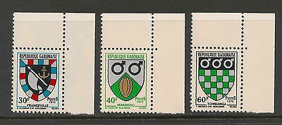 Gabon #291-293 VF MNH - 1972 30fr to 60fr Coat Of Arms Type 1969