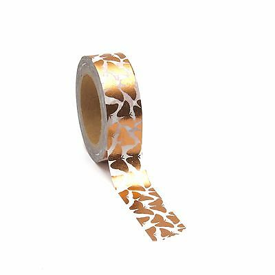 Butterfly Washi Tape Copper Rose Gold Foil Metallic 10 Metres