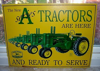 John Deere Series A Tractors Metal Sign - Discontinued - Hard To Find - 12 X 16