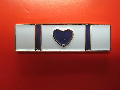 Purple Heart Commendation Award Metal Pin Police Sheriff Enameled Colors*
