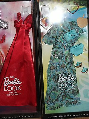 BARBIE Barbie Look Red Carpet & Pool Side Fashions Both NRFB