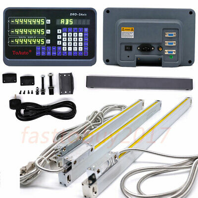 3 Axis Digital Readout + 5µm 50~1000mm Precision Linear Scale for Lathe Milling