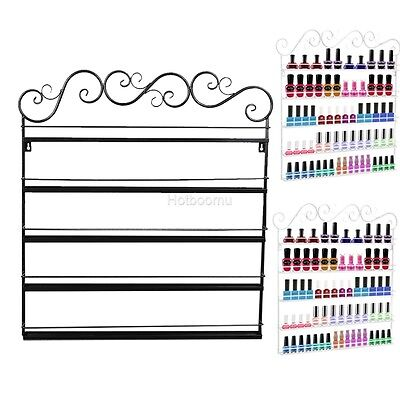 5/6 Tier Nail Polish Wall Mount Rack Organizer Display Metal (up to 90+ Bottles)