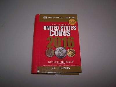 Red Book GUIDE TO UNITED STATES COINS Whitman Hardback book New 2016 coin book