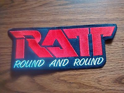 Ratt,round And Round,sew On Embroidered Large Back Patch