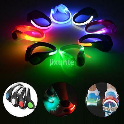LED Luminous Shoe Light Up Safety Heel Clips Running Jogging Night Trainers Walk