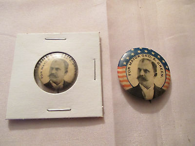 Vintage Lot Of Two George E. Green For Mayor Political Pinback Buttons