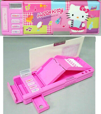 Sanrio Hello Kitty 2-side Multi-function Pencil Case/Box -Pink- Free Shipping