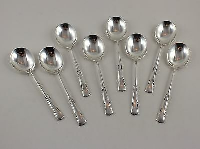 """Gorham Greenbrier Sterling Silver Cream Soup Spoons - 6 1/4"""" - Set of 8"""