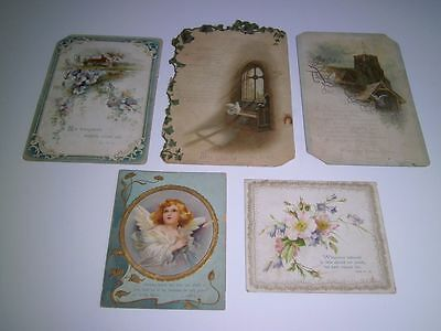 Antique Victorian cards Easter/Religious/Psalm FIVE included
