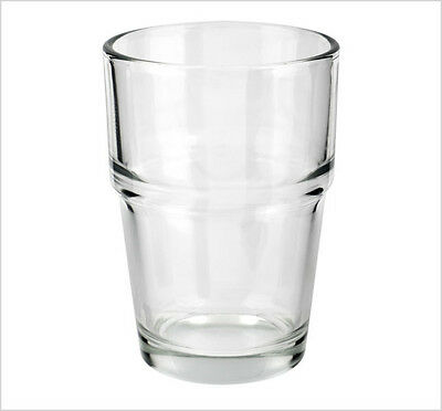 170ml Set of 12 Stackable Drinking Water Glass Cold Juice Tumbler New