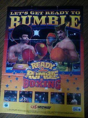 Nintendo 64 Ready 2 Rumble boxing poster only extremely rare and collectable