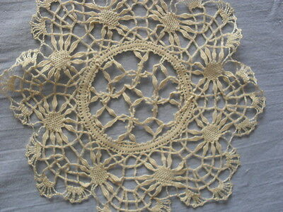 Lovely Vintage Handmade Brussels Lace Doily
