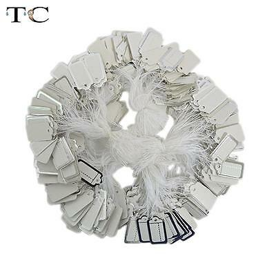 1000 Paper Labels Tie String Strung Retail Price Tags Jewellery Free Postage