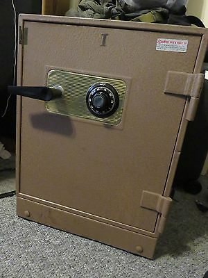 "Vintage Underwriter Laboratories Inc. Safe Vault 6 Keys Combination Locks 22""H"