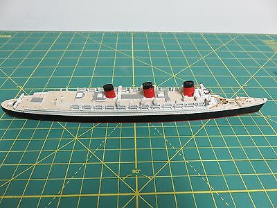 """Mercator Rms Queen Mary M494 British Ocean Liner Scale Model Ship 1:1250 9 3/4"""""""
