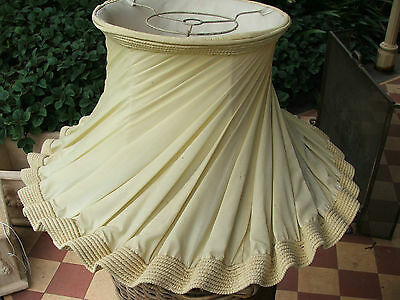 VINTAGE YELLOW FLOUNCY LAMP SHADE maybe 1950s