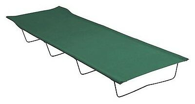 Camping Bed Folding Camp Stretcher 4 Steel Leg Frame 600D Polyester + Carry Bag