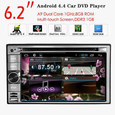 "6.2"" Android In Dash GPS Navi 5.1 Quad Core BT WIFI 2 DIN Car Radio DVD Player"