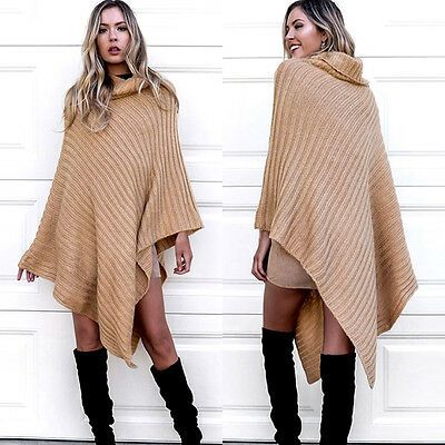 Women Oversized Wrap Sleeve Knitted Sweater Tops Loose Cardigan Outwear Coat
