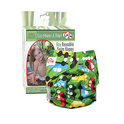 REUSABLE SWIM NAPPY Baby Swimmer NEWBORN to TODDLER Diaper Pants Nappies GREENCA